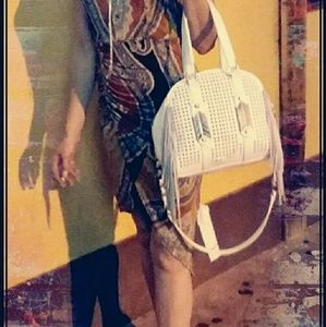 Handbags - White fringe purse